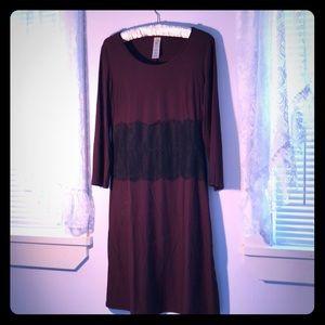 Dresses & Skirts - Purple Black Lace Dress M